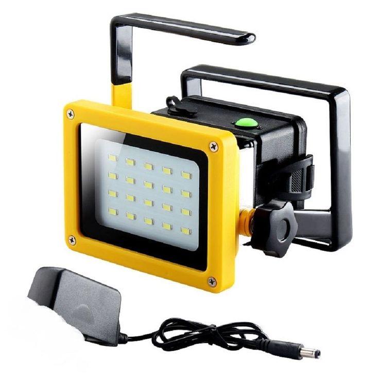 Projecteur Portable 20 LED 20W / Etanche / Rechargeable 110/220V In-Outdoor