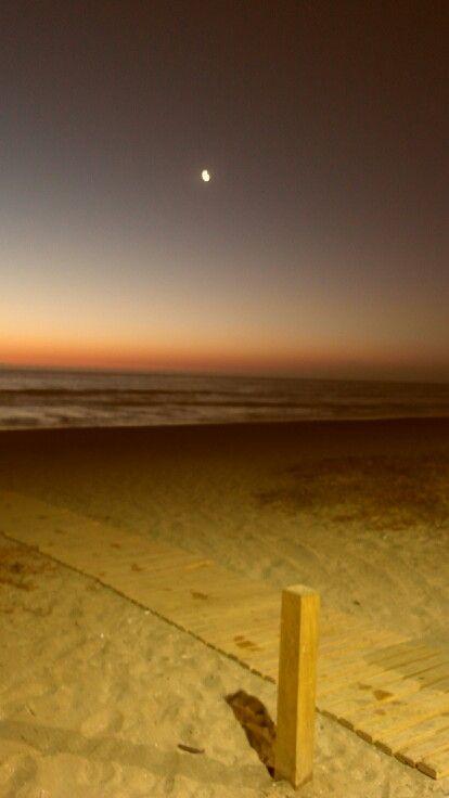 Atardecer en la playa. ..