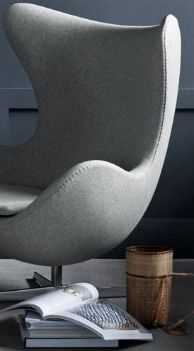 Egg chair by Arne Jacobsen. Designed in 1958 and still looks contemporary.