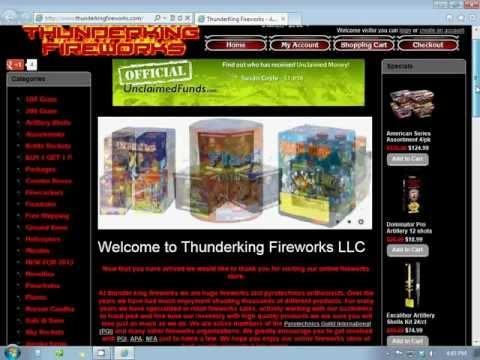 BUY FIREWORKS ONLINE @THUNDERKINGFIREWORKS.COM