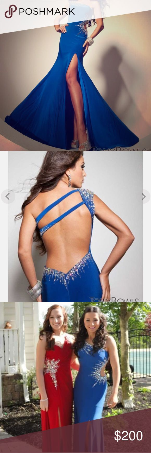 Tony Bowls fitted prom gown Had padding sewn into the top, slightly altered( will fit size 3-4) Tony Bowls Dresses Prom
