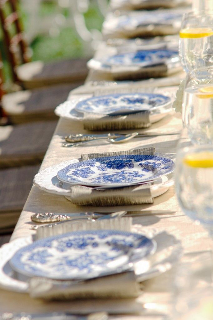 vintage blue china