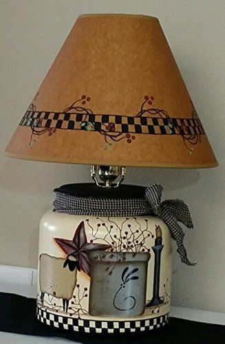 "Primitive Country Khrista Lamp 22"" Tall…"