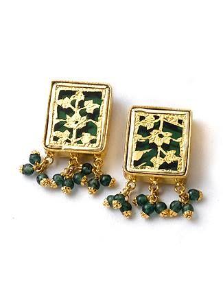 Thewa Earrings 1 Rs.13,595.0