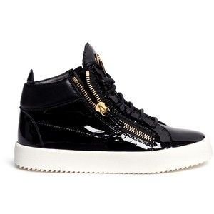 Giuseppe Zanotti Design 'May London' patent leather lace-up high top sneakers