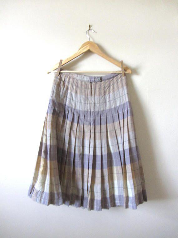 60s Highland Queen Reversible Wool Skirt