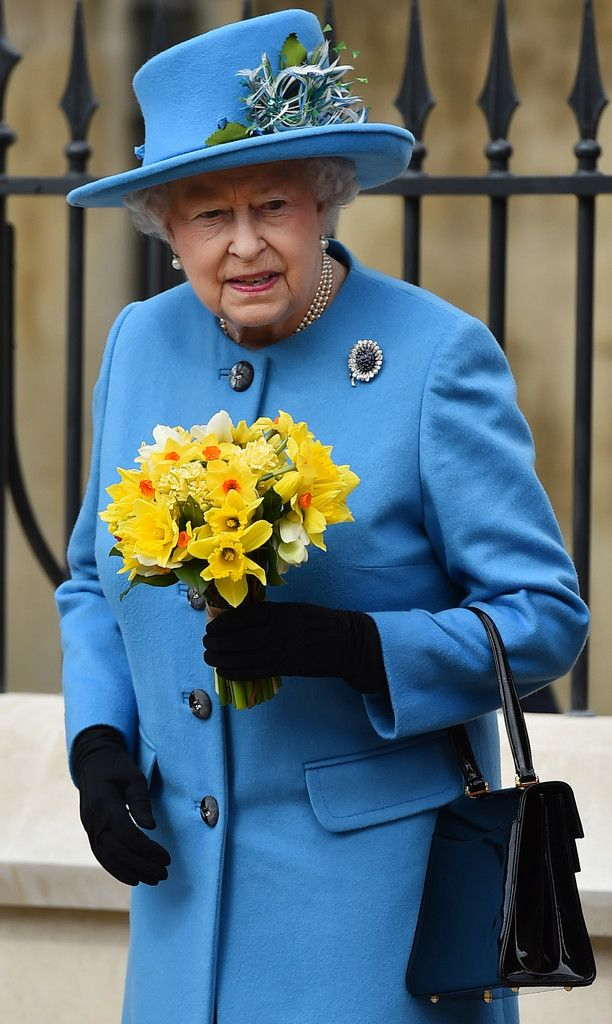 Queen Elizabeth II attends a Royal Easter Sunday Service at Windsor Castle