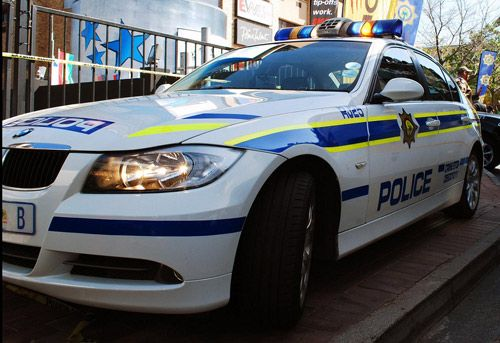 Fast South African Police Car. These guys are brave. I have so much respect for the job they do.