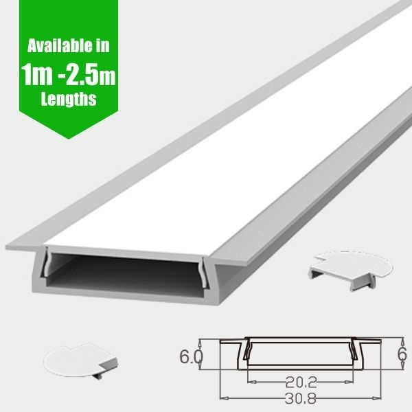 Slim Decorative Recessed Led Profile For 15mm Phillips Hue Led
