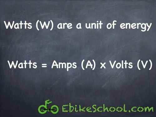 Electric Bicycle Power Equation