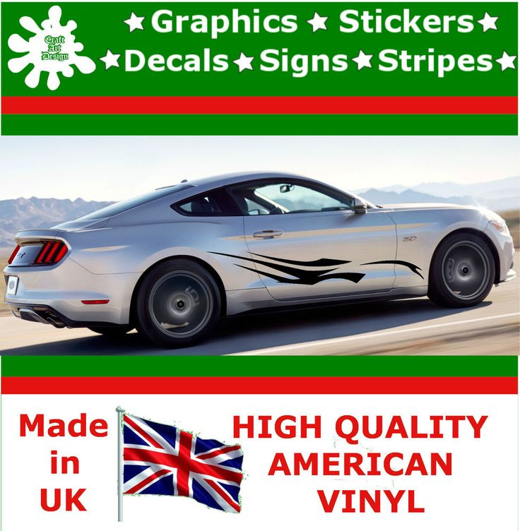 """10"""" High Car Side Stripes Graphics Decal Vinyl Stickers Van Auto Rally Race F3_6"""