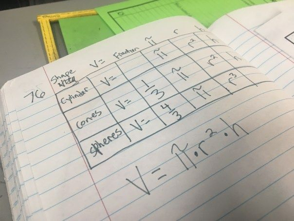 Read this blog post to teach volume of cylinders, cones, and spheres like a star. Includes a free graphic organizer to make memorizing formulas a breeze & a free I can statement insert for the math interactive notebook.