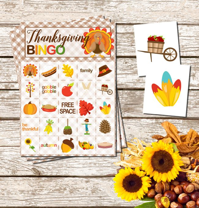 Get the family together and make the holiday fun with this Free Printable Thanksgiving Bingo Game plus more fun family game ideas.