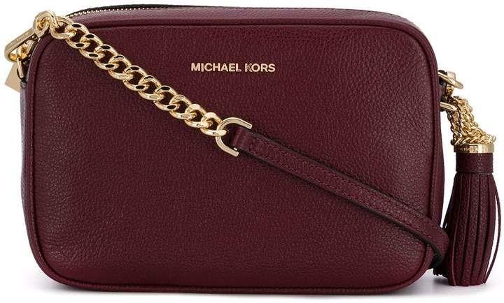 b3ef0bac41d96 Michael Michael Kors Ginny Leather Camera  Bag!