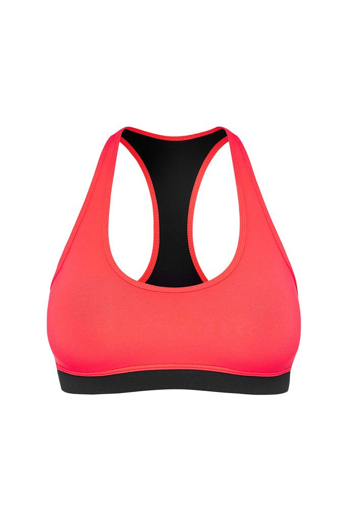 Retro Sports Bra - Coral – Dharma Bums Yoga and Activewear