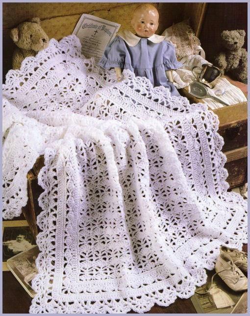 Shells Of Love Crochet Baby Blanket Pattern : Shell Stitch Baby Blanket crochet Pinterest