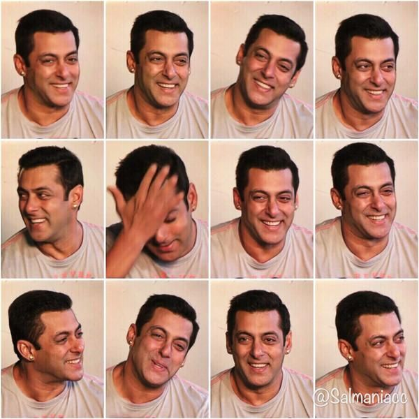 SALMAN KHAN's expression are lovely..he is looking so cute the way he is smiling <3