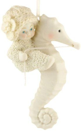 Christmas Decor - Department 56 Snowbabies Seahorse Ornament
