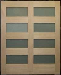 This Custom Door From Our Door Shop Was Built By Conjoining Two 4 Lite Hem
