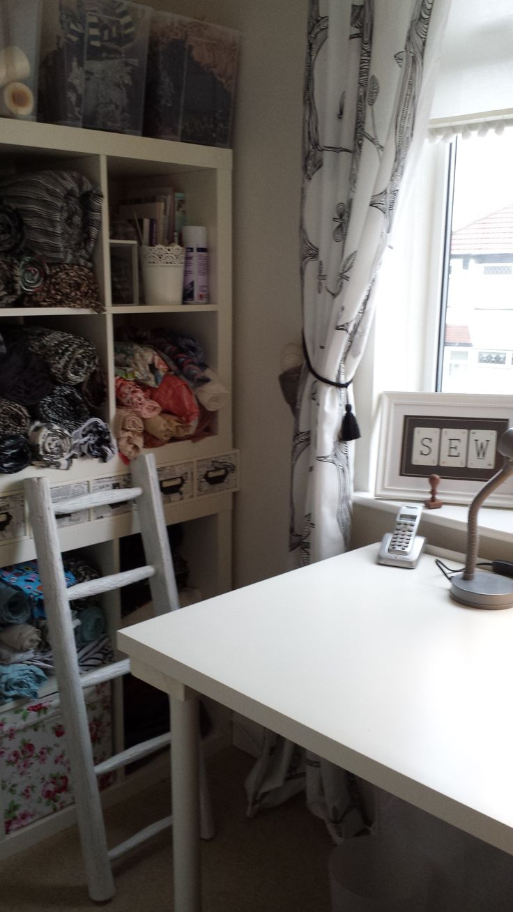 The perfect place to work and feel inspired, all from London antique markets and Ikea!