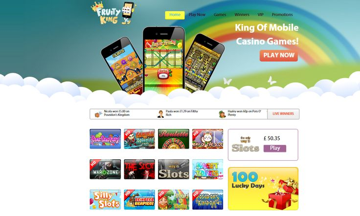 Be the Kings of the Slots and lord over your wins! Join now at Fruity King and get a free 5, to grab a share of the riches. http://goo.gl/vXn0R7
