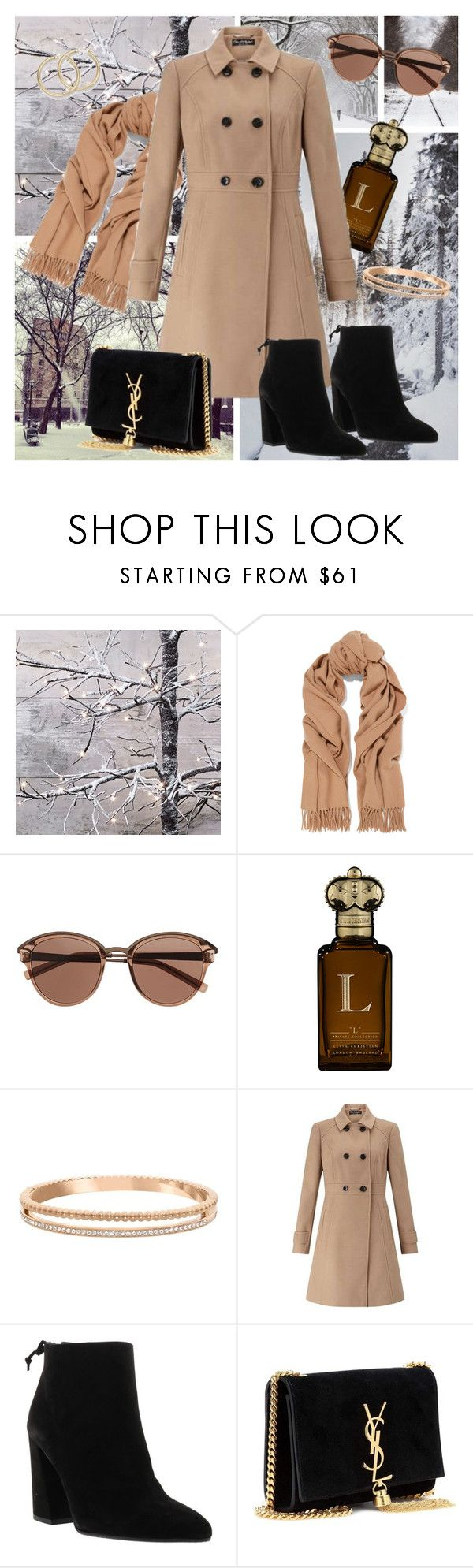 """""""Winter Coat"""" by monique-joanne ❤ liked on Polyvore featuring Acne Studios, Witchery, Clive Christian, Swarovski, Miss Selfridge, Stuart Weitzman and Yves Saint Laurent"""