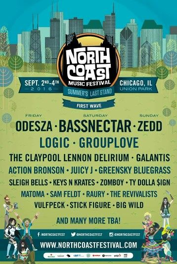 The initial line up for North Coast Music Festival in Chicago! #NCMF16