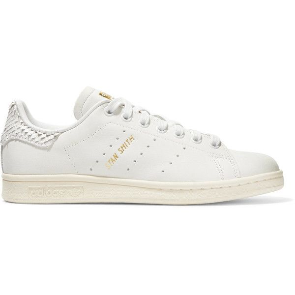 hot sale online da03d 20e35 adidas Originals Stan Smith snake effect-trimmed leather ...