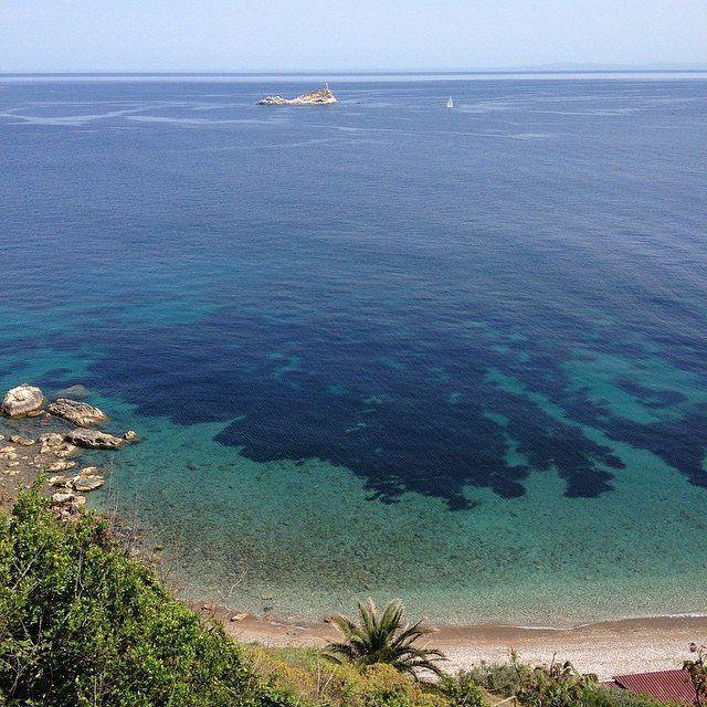 La spiaggia delle viste a #portoferraio nello scatto di @romanticabijou. Continuate a taggare le vostre foto con #isoladelbaapp il tag delle vostre vacanze all'#isoladelba.
