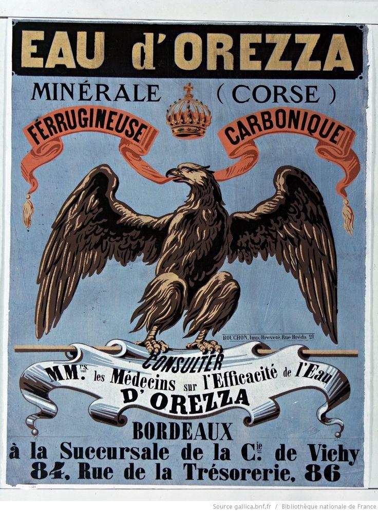 Eau d'Orezza (Corse) minérale ferrugineuse, carbonique... : [affiche] / [non identifié]