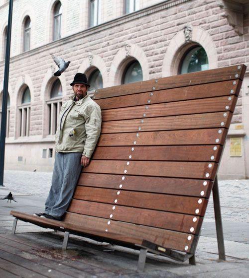 Unique Public Seating Swedish design company Bernstrand