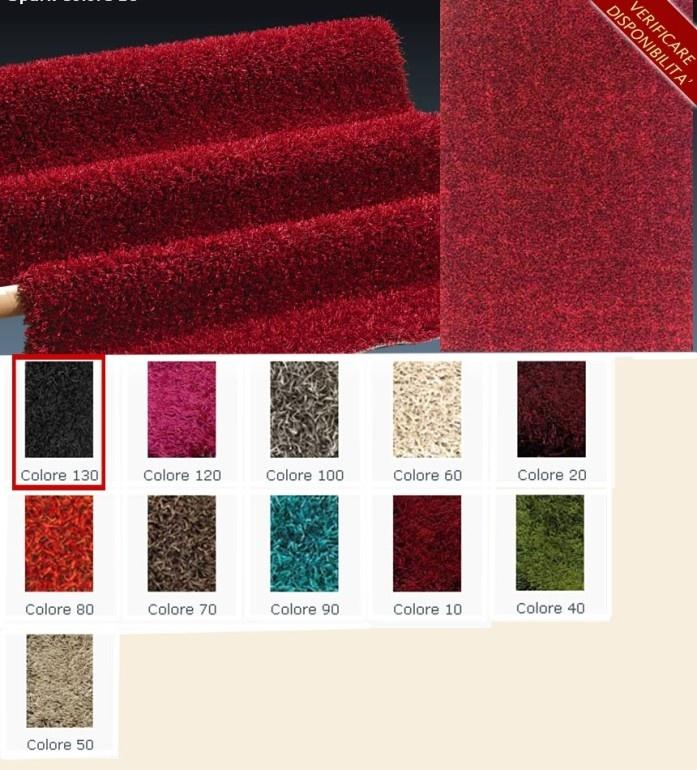 tappeto 60X115 spark colore 130 design moderno 3500 gr/mq  Art. SITSP13060115    I tappeti sono gli elementi decorativi della casa per eccellenza.  I nostri prodotti hanno un ottimo rapporto qualita'/prezzo e si prestano ad arredare con stile la vostra casa.  Misure tappeto: 60X115 cm  Materiale: poliestere 75% - polipropilene heat-set 25%  Grammatura: 3500 gr/mq