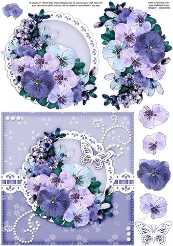 6x6 A Touch of Elegance Spring Flowers and Butterfly quick card front with 3D…                                                                                                                                                                                 More