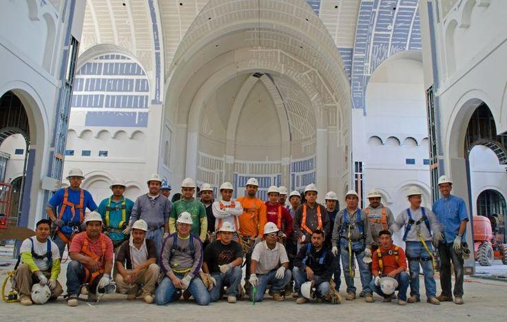 Builders... of Siena Catholic Church. Wake Forest, North Carolina USA: May 2013