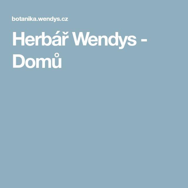 Herbář Wendys - Domů