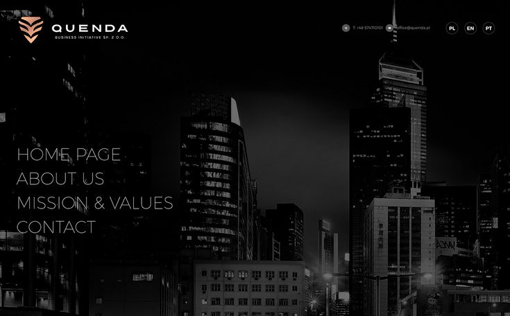 Quenda - Business Initiative Website on Behance