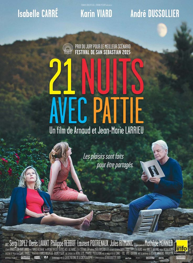 21 nuits avec Pattie est un film de Arnaud Larrieu avec Isabelle Carré, Karin Viard. Synopsis : Au cœur de l'été, Caroline, parisienne et mère de famille d'une quarantaine d'années, débarque dans un petit village du sud de la France. Elle doit or