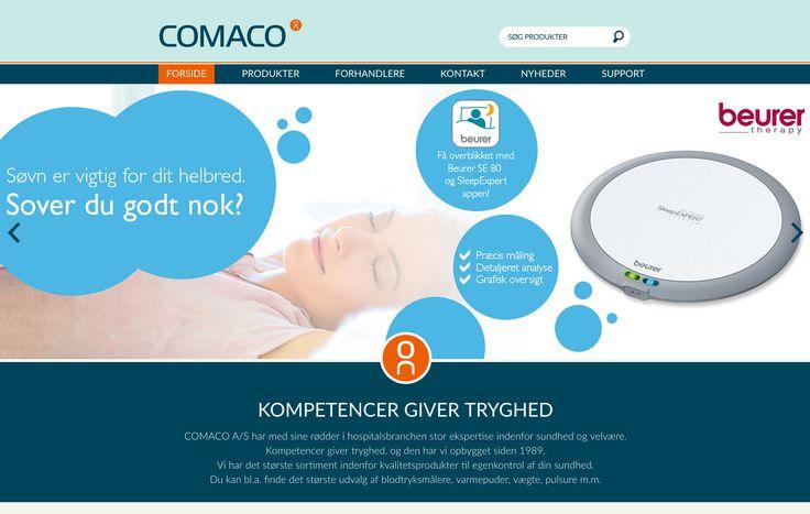 Ny og flot Wordpress hjemmeside er lavet til Firmaet Comaco A/S. Udover at vi har lavet et unikt design / theme, har vi også bygget en specialfunktion til Wordpress hjemmesiden, så Comaco på en nem, præsentabel og pæn måde, kan vise deres produkter med alle de tilhørende features, som deres kunder har behov for at få eksponeret. #Webdesign #Webshop