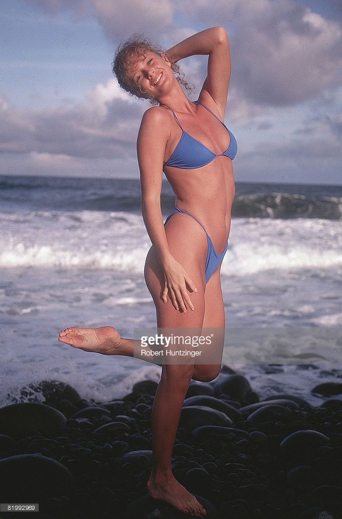 News Photo : Model Rachel Hunter is photographed for the 1990...