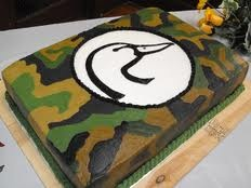 Ducks Unlimited Cake: My neighbor Laura is going to make a cake similar to this.