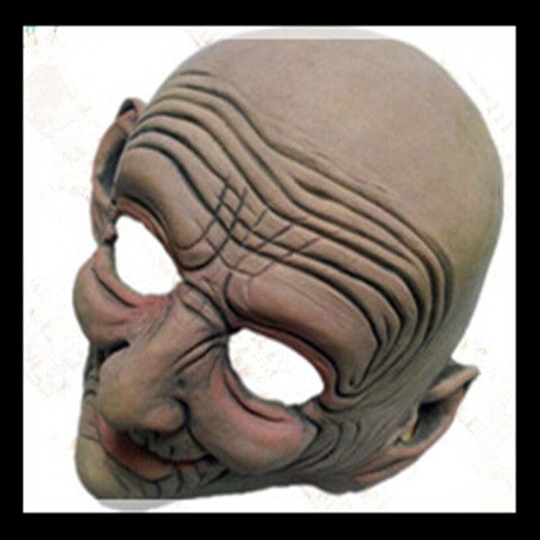 2015 Halloween Costume Party Funny Smiling Old Man Latex Mask realistic halloween masks