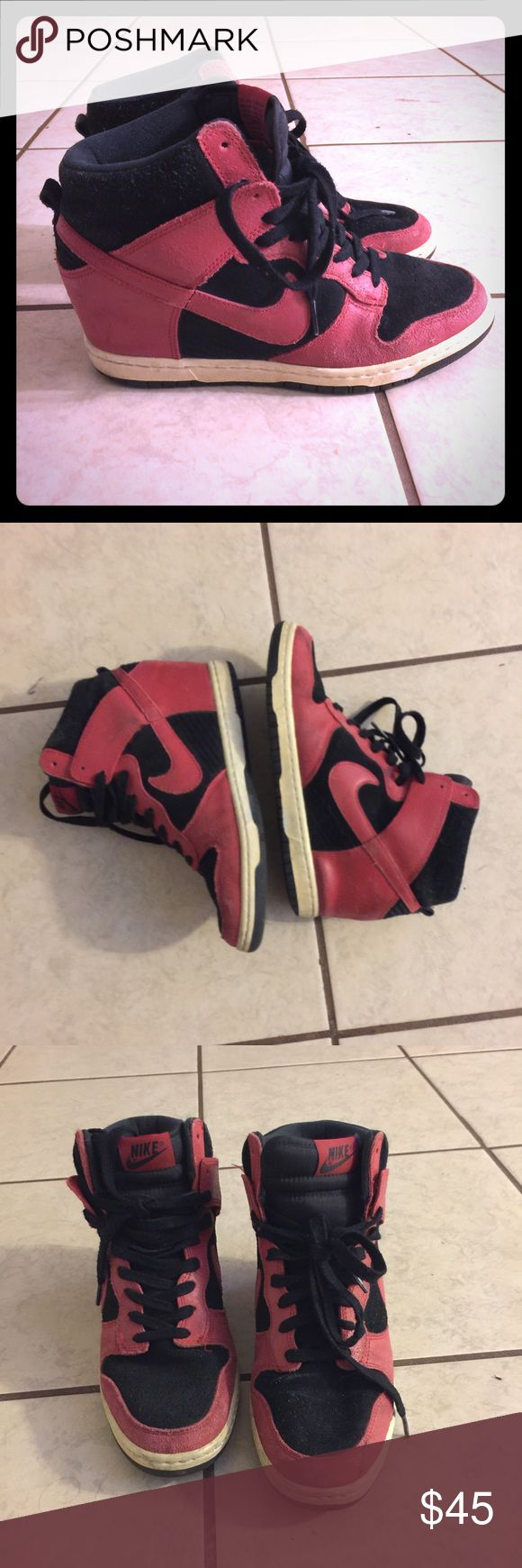 Nike dunk sky high shoes. size 11 Wedge shoes, no rips or tears. Perfect condition. Perfect with any outfit. I am moving, i need them gone asap Nike Shoes Sneakers