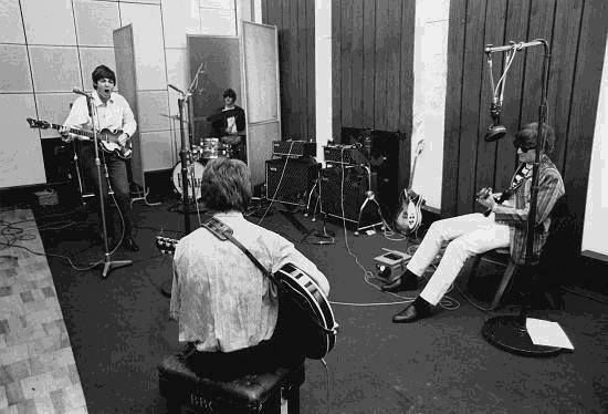 The Beatles recording 'Beatles For Sale', 1964