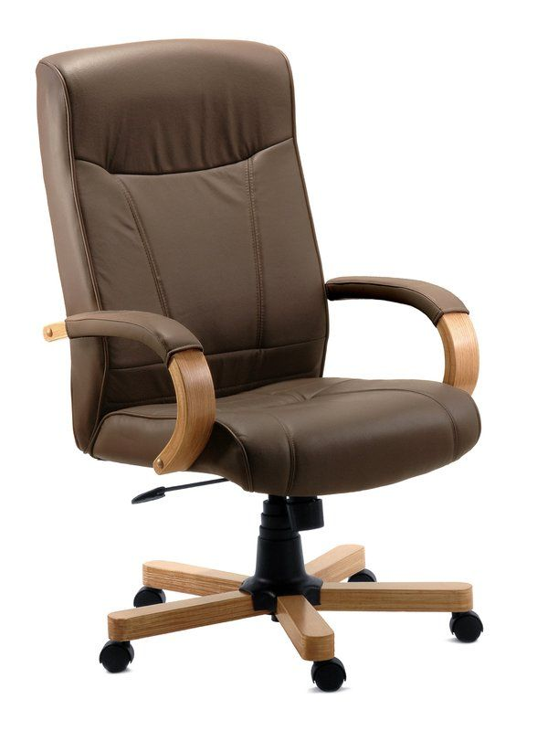 Hoschton High Back Executive Chair Brown Leather Office Chair