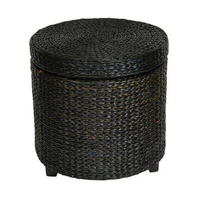 Oriental Furniture FB-STOOL Rush Grass Storage Footstool