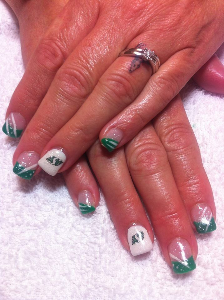 Gel nails Saskatchewan Roughriders