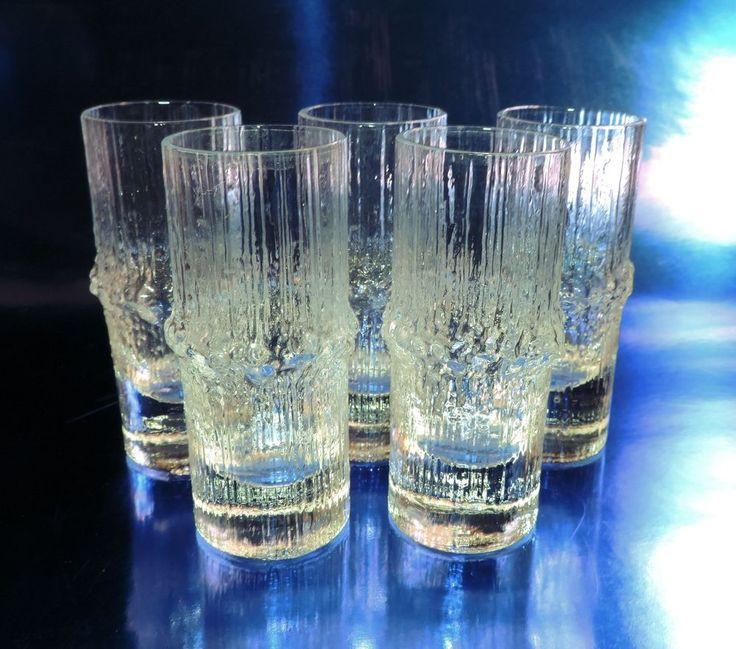 Iittala NIVA Shot Glass Tots Set of 5, Mint Condition No Reserve!
