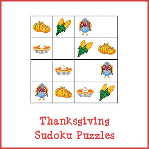 Thanksgiving Sudoku Puzzles store product image