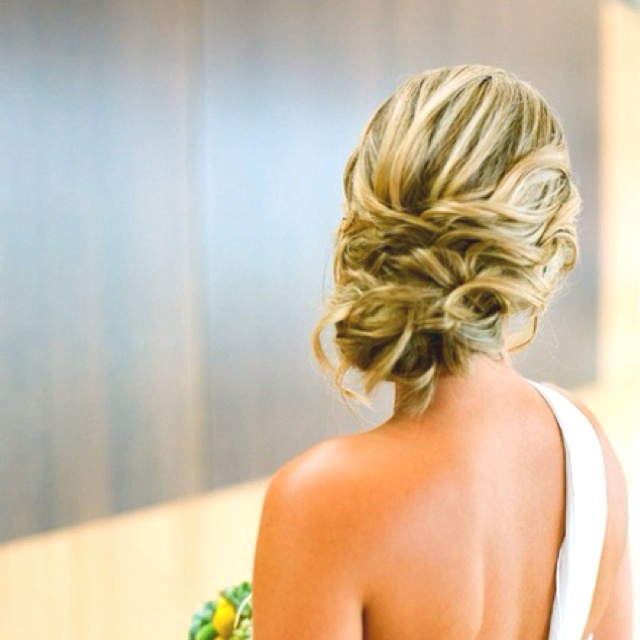 wedding updo for bridesmaid