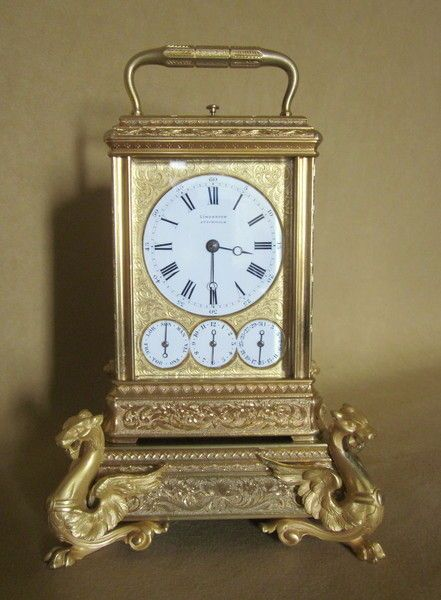 OnlineGalleries.com - French Gilded Gorge Cased Carriage Clock